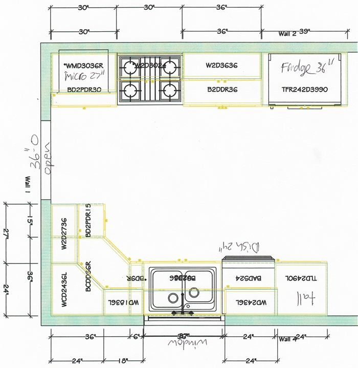 Kitchen Design Plan Example